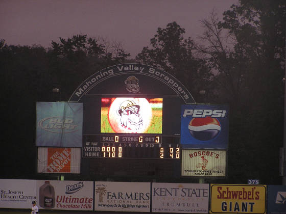 Eastwood Field Scoreboard- Mahoning Valley