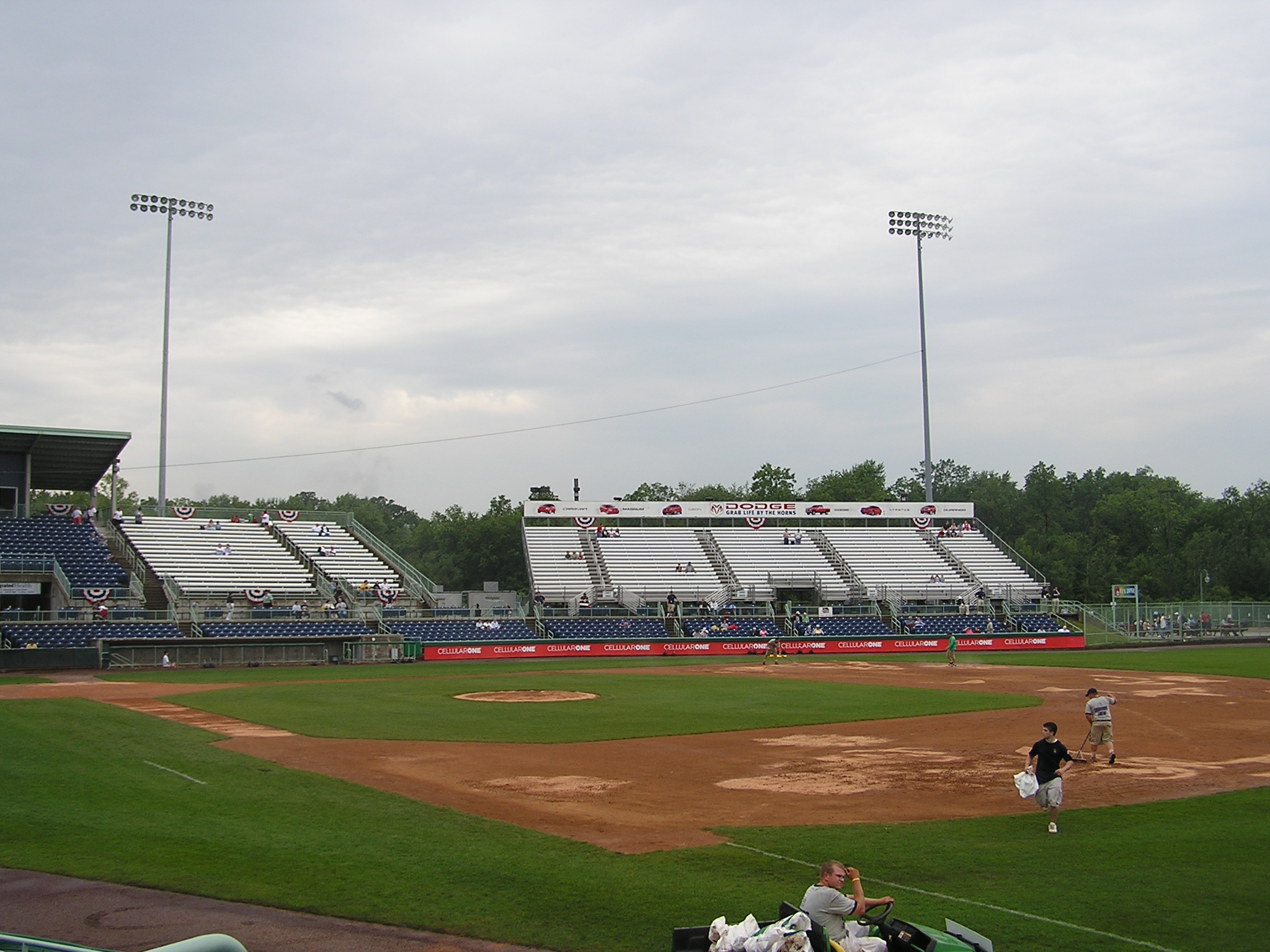 Eastwood Field's 3rd base seating